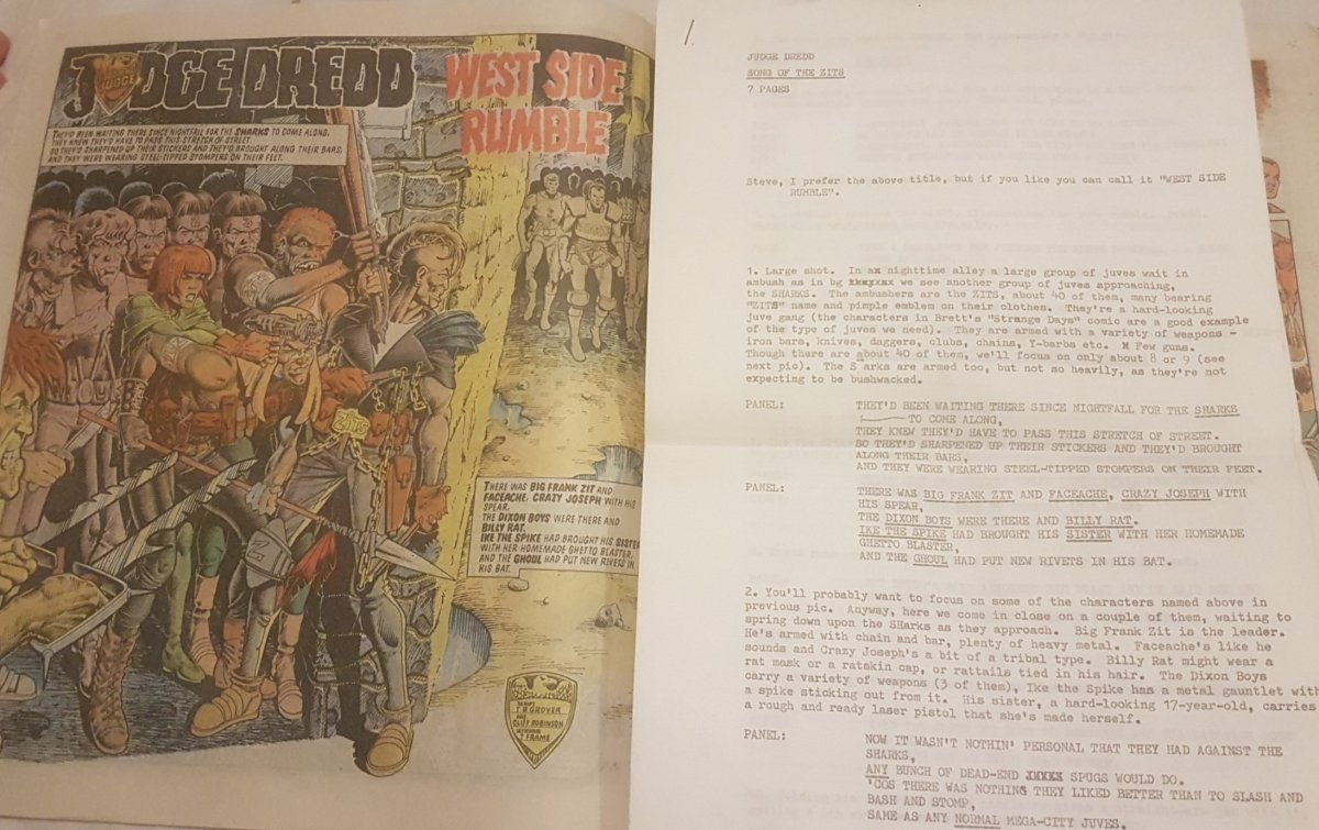 2000AD Script – T B Grover (John Wagner / Alan Grant) and art by CliffRobinson