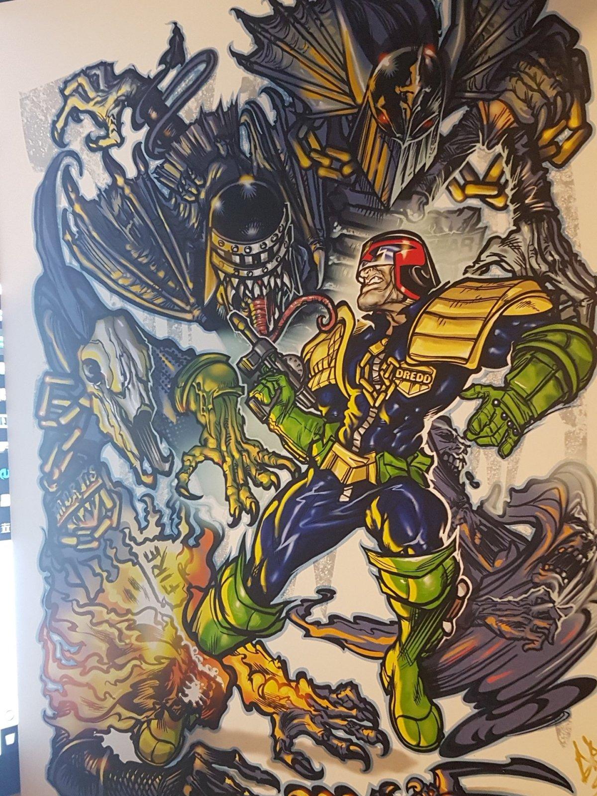 2000AD ART – Dredd and the Dark Judges – DavidBircham
