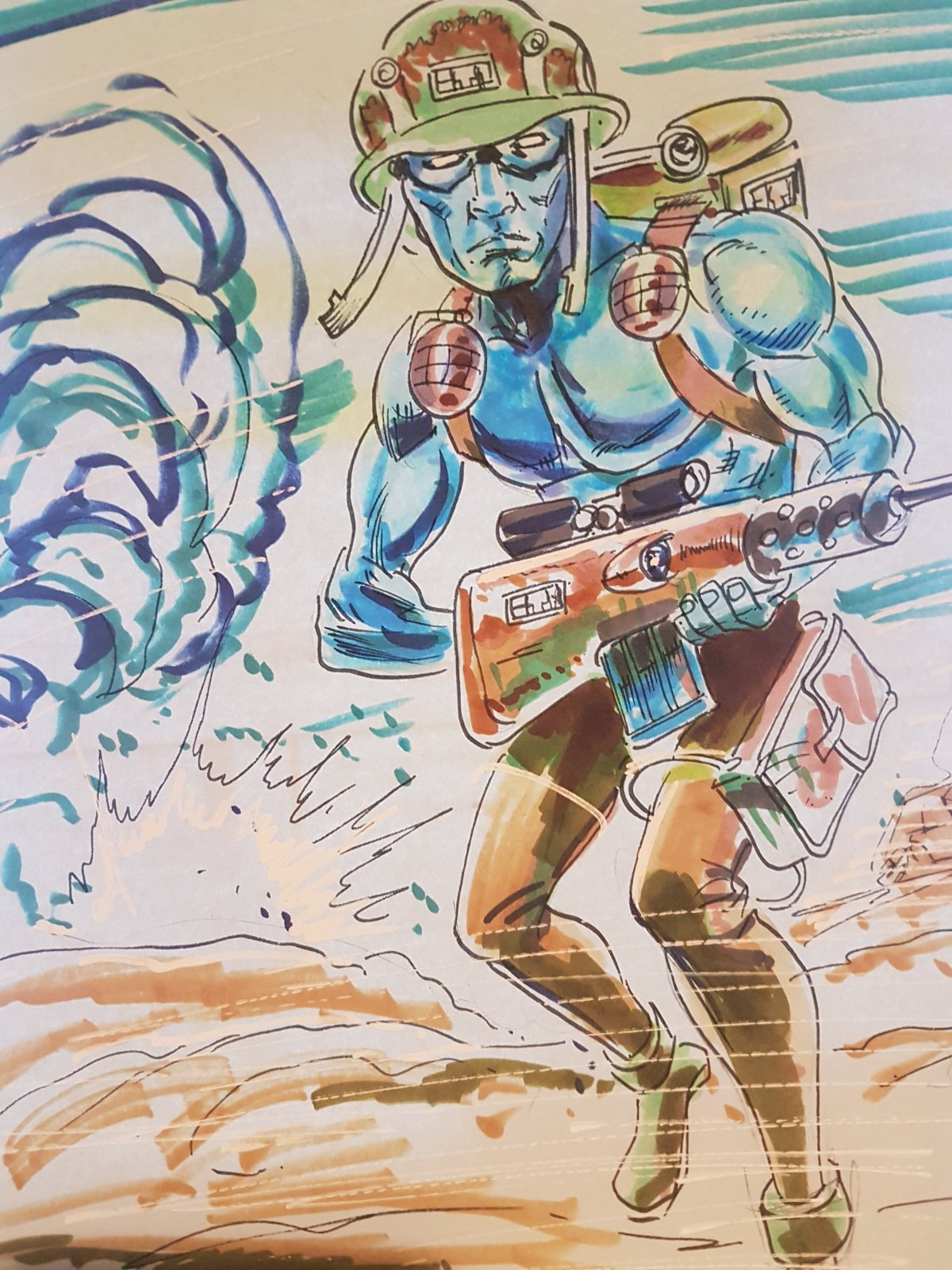2000AD ART – Rogue Trooper by Mike Collins